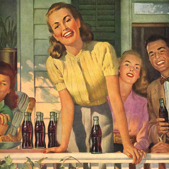 Detail Of Coca-Cola Come On Over Have A Coke | Best of Vintage Ad Art 1891-1970