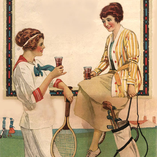 Detail Of Coca-Cola Drink Golf Atlanta | Best of Vintage Ad Art 1891-1970