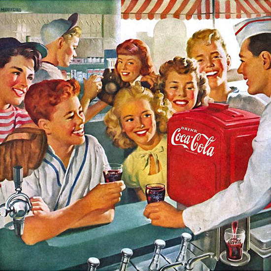Detail Of Coca-Cola Home-Town Club Kids Coke | Best of Vintage Ad Art 1891-1970