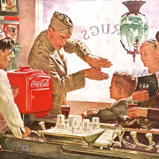 Detail Of Coca-Cola Howdy Neighbor Have A Coke | Best of Vintage Ad Art 1891-1970