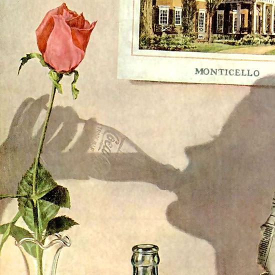 Detail Of Coca-Cola Monticello William Shakespeare Quality B | Best of Vintage Ad Art 1891-1970