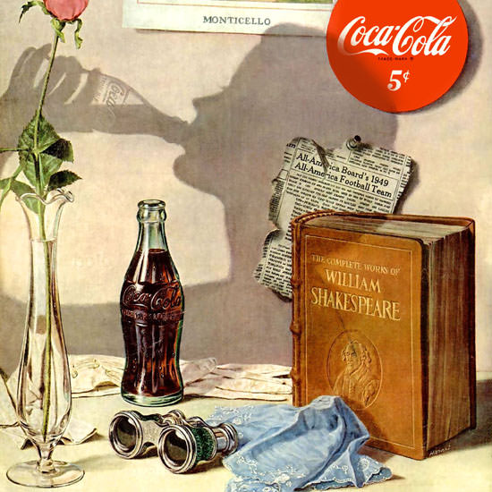 Detail Of Coca-Cola Monticello William Shakespeare Quality | Best of Vintage Ad Art 1891-1970