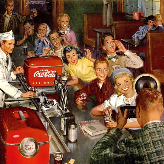 Detail Of Coca-Cola Photographer Coke 1950 | Best of Vintage Ad Art 1891-1970