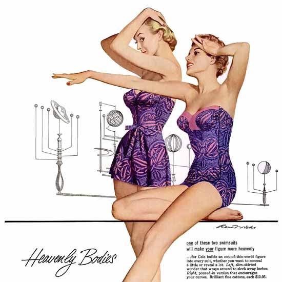 Detail Of Cole Heavenly Bodies Of California | Best of Vintage Ad Art 1891-1970