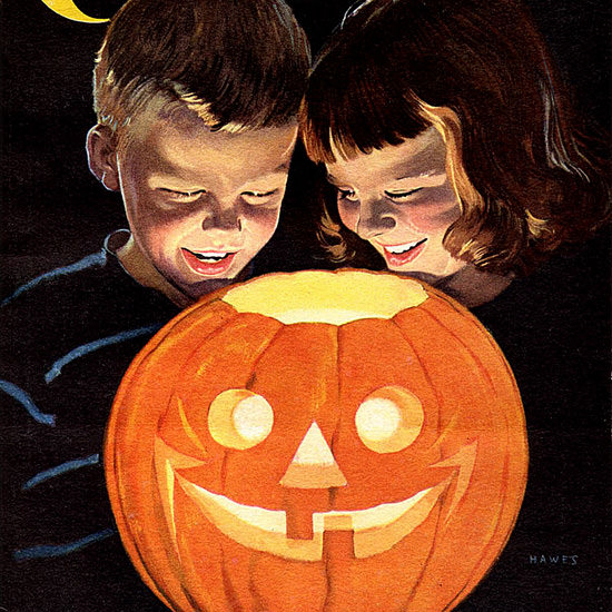 Detail Of Coronet Cover Halloween | Best of Vintage Ad Art 1891-1970
