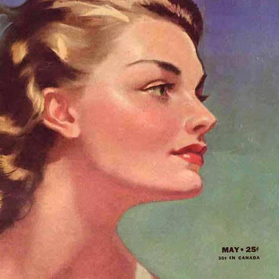 Detail Of Cosmopolitan Magazine Copyright 1942 Faith Baldwin | Best of Vintage Ad Art 1891-1970