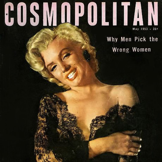 Detail Of Cosmopolitan Magazine Copyright 1953 Marilyn Monroe | Best of Vintage Ad Art 1891-1970