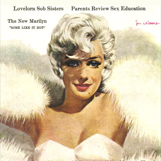 Detail Of Cosmopolitan Magazine Copyright 1959 Marilyn Monroe | Best of Vintage Ad Art 1891-1970