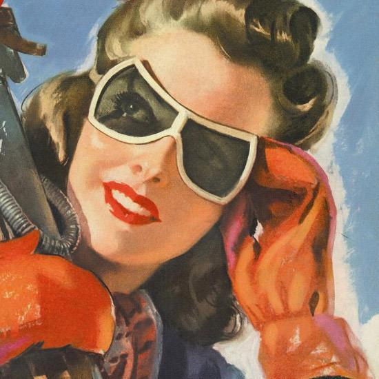 Detail Of Cosmopolitan Magazine Reno By Faith Baldwin | Best of Vintage Ad Art 1891-1970