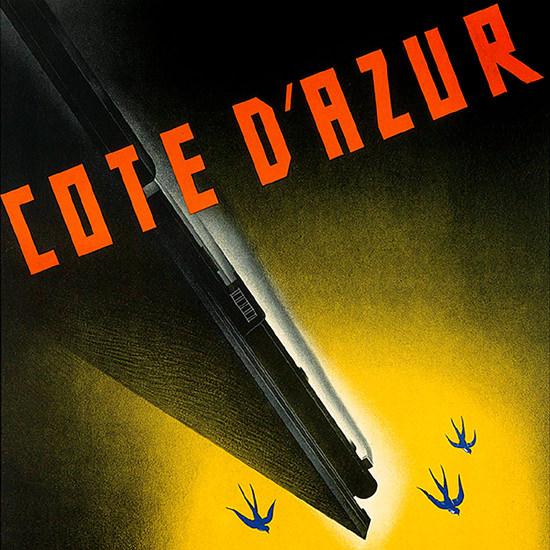 Detail Of Cote d Azur Swallows | Best of Vintage Ad Art 1891-1970