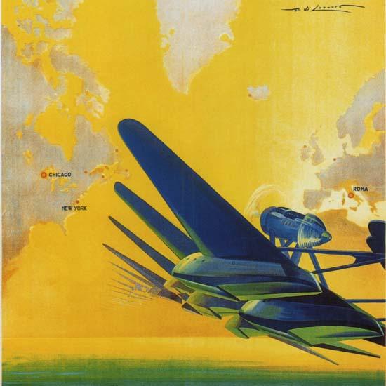 Detail Of Crociera Aerea Del Decennale 1933 Roma | Best of Vintage Ad Art 1891-1970