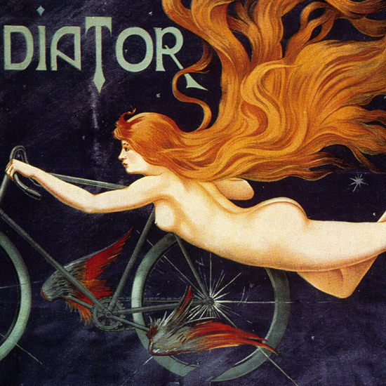 Detail Of Cycles Gladiator Nude Montmartre Paris Massias B | Best of Vintage Ad Art 1891-1970