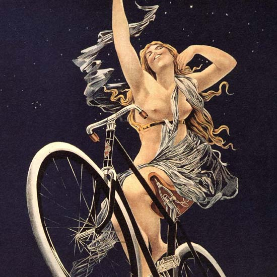 Detail Of Cycles Sirius Nude Rue Duret Paris Henri Gray B | Best of Vintage Ad Art 1891-1970