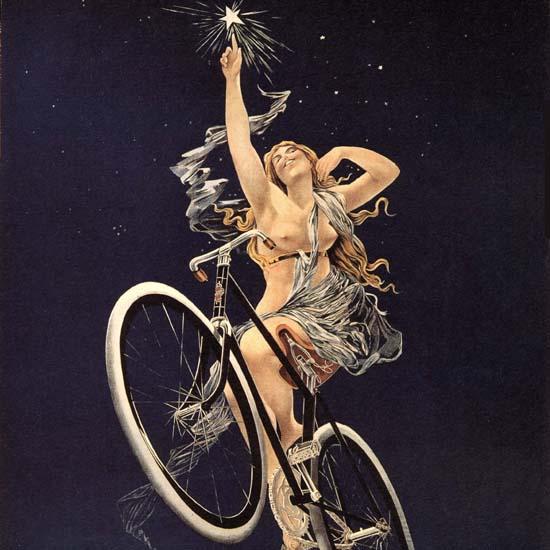 Detail Of Cycles Sirius Nude Rue Duret Paris Henri Gray | Best of Vintage Ad Art 1891-1970
