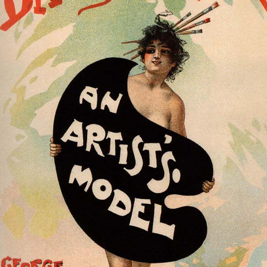 Detail Of Dalys Theatre An Artists Modell France Edwardes | Best of Vintage Ad Art 1891-1970