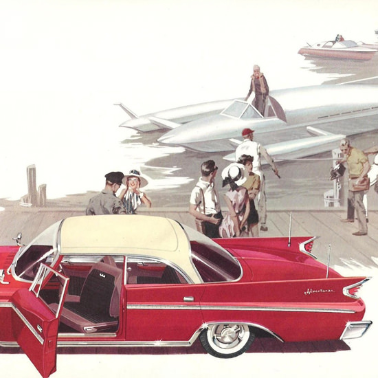 Detail Of DeSoto Adventurer Sedan Canada 1960 Boat | Best of Vintage Ad Art 1891-1970