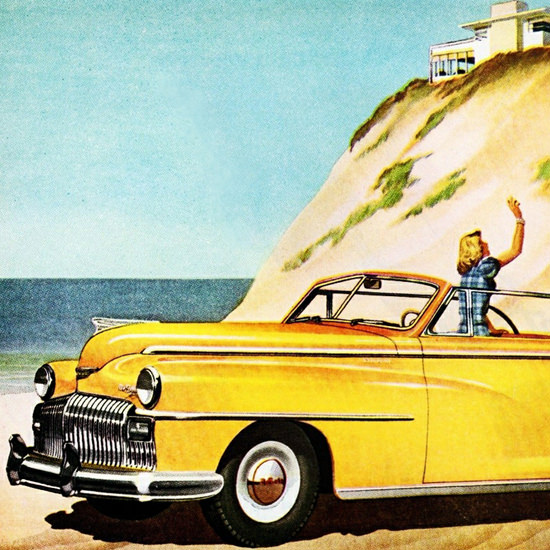 Detail Of DeSoto Convertible Club Coupe 1946 | Best of Vintage Ad Art 1891-1970
