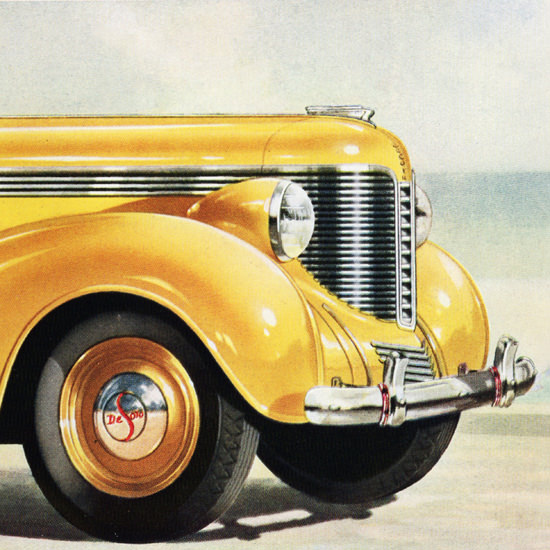 Detail Of DeSoto Convertibles Let It Shine 1938 | Best of Vintage Ad Art 1891-1970