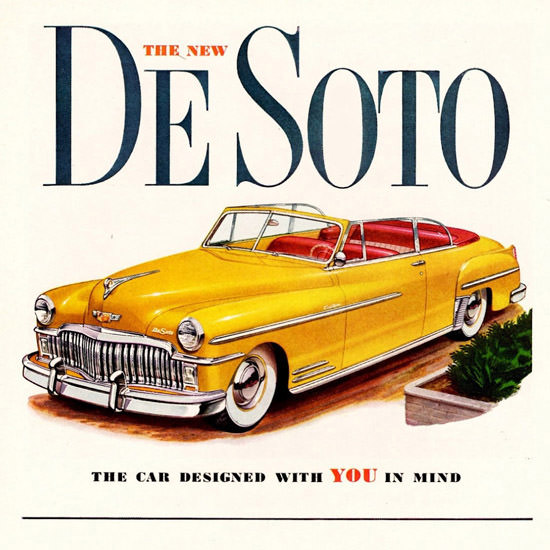 Detail Of DeSoto Custom Convertible 1949 | Best of 1940s Ad and Cover Art