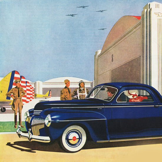 Detail Of DeSoto DeLuxe Coupe 1941 | Best of 1940s Ad and Cover Art