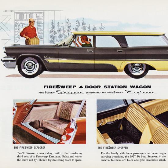 Detail Of DeSoto FireSweep Shopper Station 1957 | Best of Vintage Ad Art 1891-1970