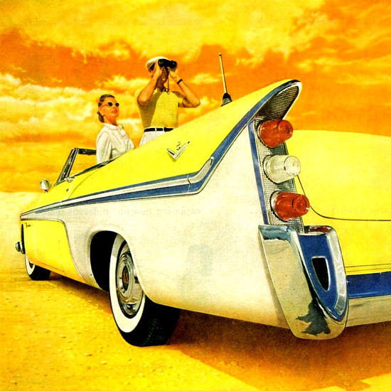 Detail Of DeSoto Fireflite Convertible 1956 | Best of Vintage Ad Art 1891-1970