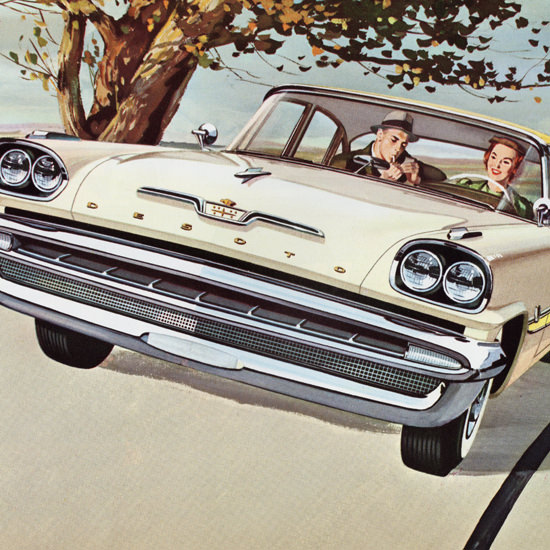 Detail Of DeSoto Fireflite Sedan 1957 The Most Exciting | Best of Vintage Ad Art 1891-1970