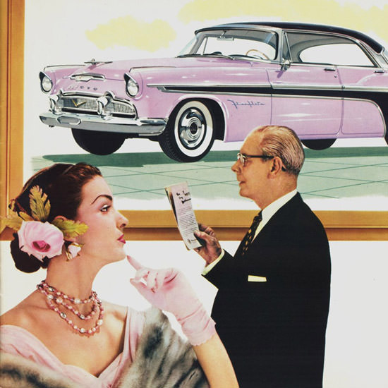 Detail Of DeSoto Fireflite Sportsman 1956 | Best of Vintage Ad Art 1891-1970