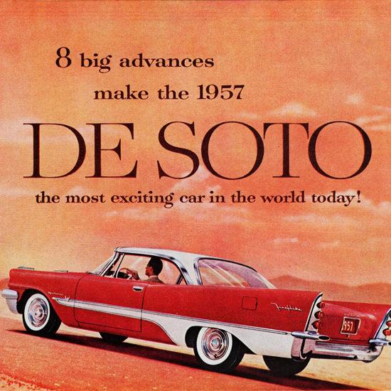 Detail Of DeSoto Fireflite Sportsman 1957 Desert | Best of Vintage Ad Art 1891-1970