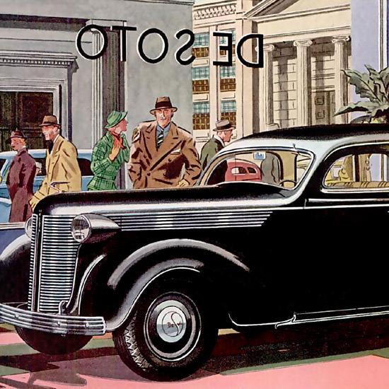 Detail Of DeSoto ShowCase Black | Best of Vintage Ad Art 1891-1970