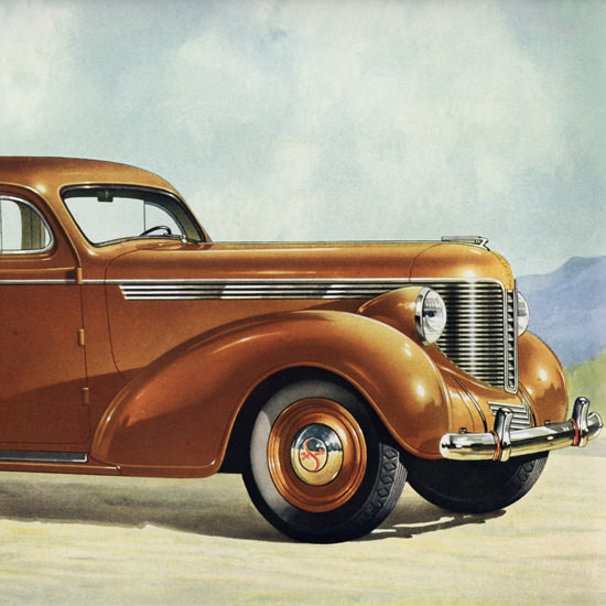 Detail Of DeSoto Touring Brougham Trunk 1938 | Best of Vintage Ad Art 1891-1970