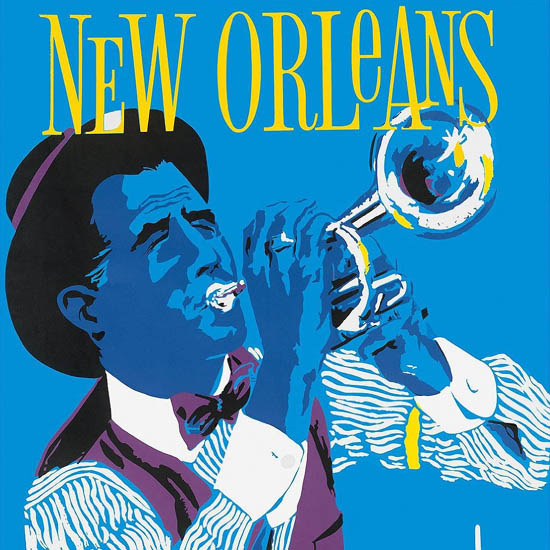 Detail Of Delta Air Lines New Orleans Jazz 1960 | Best of Vintage Ad Art 1891-1970