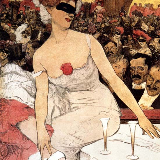 Detail Of Deutsches Theater Bal Pare Germany 1906 | Best of Vintage Ad Art 1891-1970