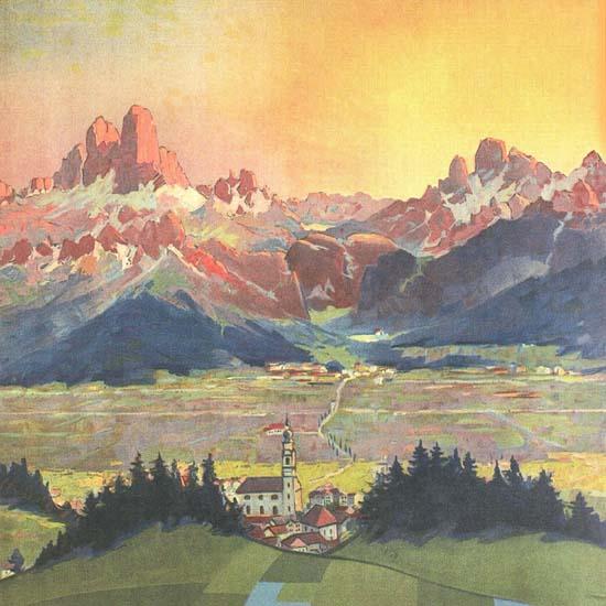 Detail Of Dobbiaco Pusteria Dolomiti Dolomite Alps Italia | Best of Vintage Ad Art 1891-1970