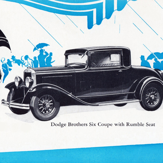 Detail Of Dodge Brothers Six Coupe Rumble Seat 1930 | Best of Vintage Ad Art 1891-1970