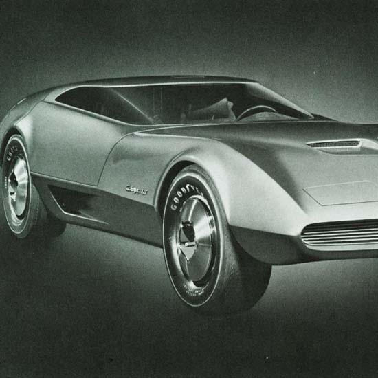 Detail Of Dodge Charger III Concept Car 1967 | Best of Vintage Ad Art 1891-1970