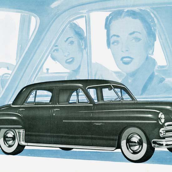 Detail Of Dodge Coronet 4 Door Sedan 1950 | Best of Vintage Ad Art 1891-1970