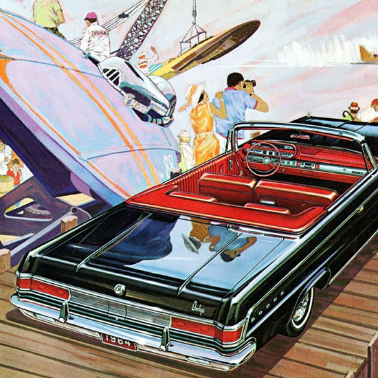 Detail Of Dodge Custom 880 Convertible 1964 | Best of Vintage Ad Art 1891-1970