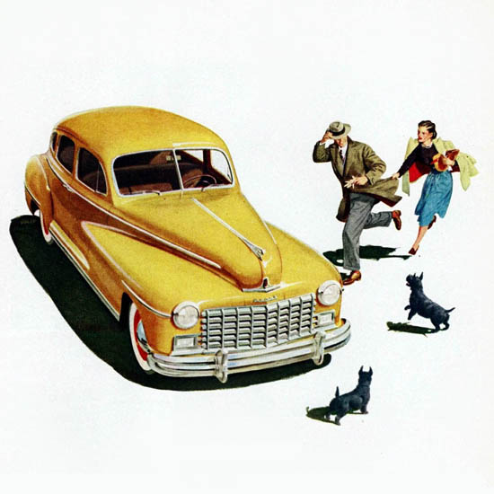 Detail Of Dodge Custom Sedan 1948 | Best of 1940s Ad and Cover Art