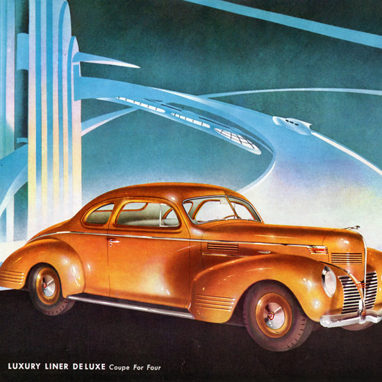 Detail Of Dodge Luxury Liner De Luxe Coupe 1939 | Best of Vintage Ad Art 1891-1970