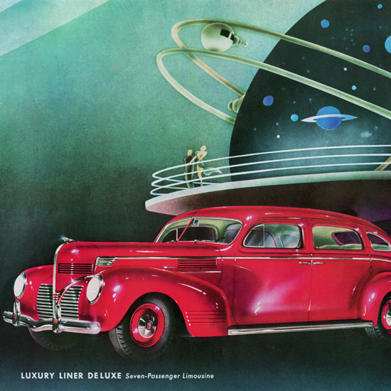 Detail Of Dodge Luxury Liner De Luxe Limousine 1939 | Best of 1930s Ad and Cover Art