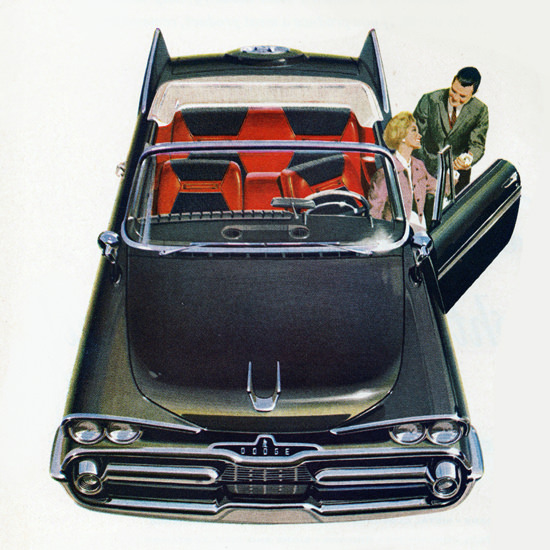 Detail Of Dodge Mayfair Convertible 1959 Great Day | Best of Vintage Ad Art 1891-1970