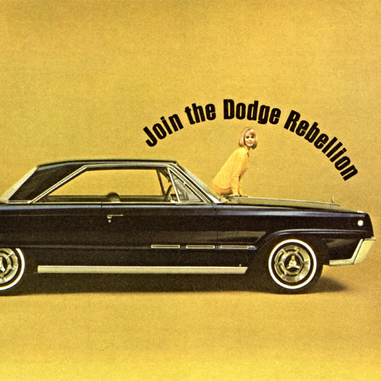 Detail Of Dodge Monaco 500 1966 Join The Rebellion | Best of Vintage Ad Art 1891-1970