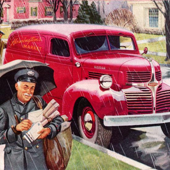 Detail Of Dodge Panel Truck 1947 Always Dependable | Best of Vintage Ad Art 1891-1970