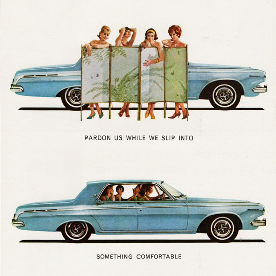 Detail Of Dodge Polara 1963 Pardon Us While We Slip Into | Best of Vintage Ad Art 1891-1970