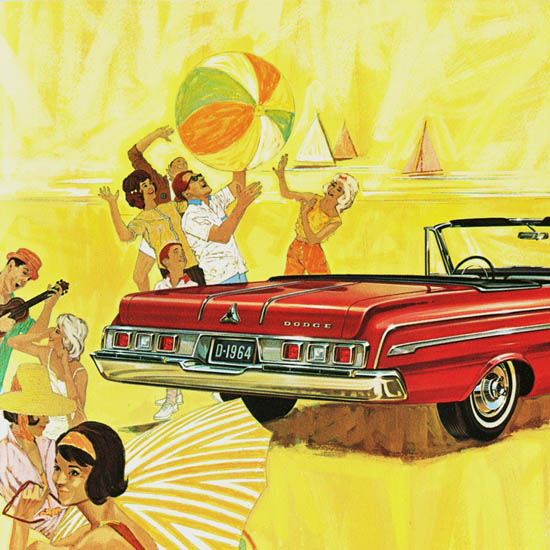 Detail Of Dodge Polara 500 Convertible 1964 | Best of Vintage Ad Art 1891-1970
