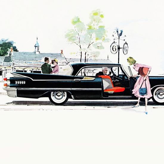 Detail Of Dodge Royal Lancer 1959 Swing Out Seat | Best of Vintage Ad Art 1891-1970