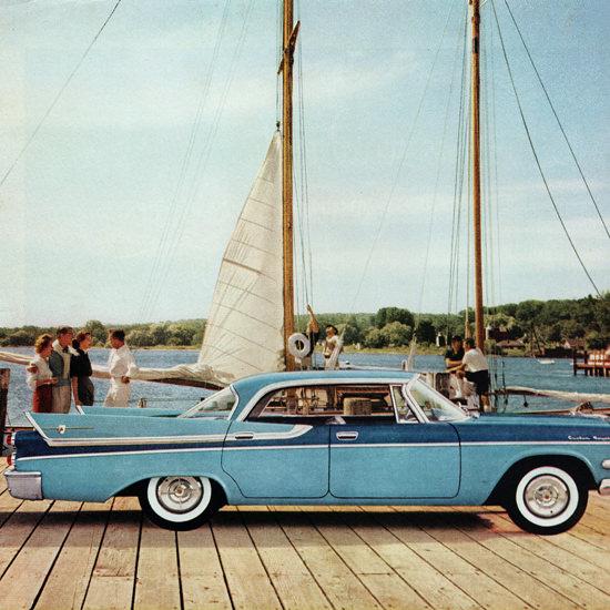 Detail Of Dodge Royal Lancer Hardtop 1957 Swept Wing | Best of Vintage Ad Art 1891-1970