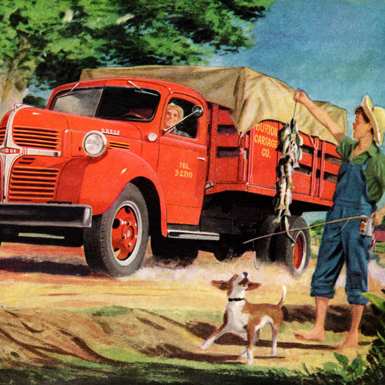 Detail Of Dodge Stake Truck 1947 How To Make A Haul | Best of Vintage Ad Art 1891-1970