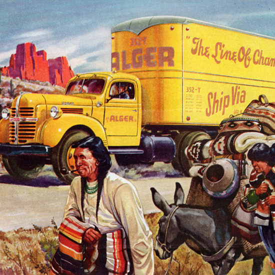 Detail Of Dodge Tractor Trailer 1947 How To Take It Easy | Best of Vintage Ad Art 1891-1970